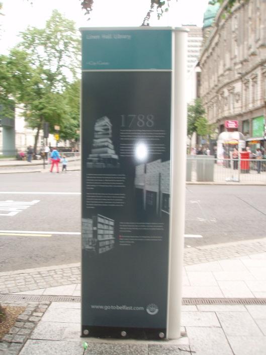 Informatiepaneel Linen Hall Library, Belfast