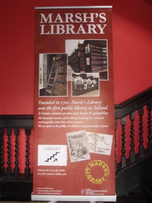Informatiepaneel Marsh's Library, Dublin