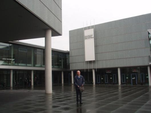Hans Krol voor de Deutsche National Bibliothek in Frankfurt am Main in 2013