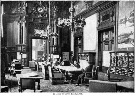 Leeszaal in het Reichsgebäude Berlijn