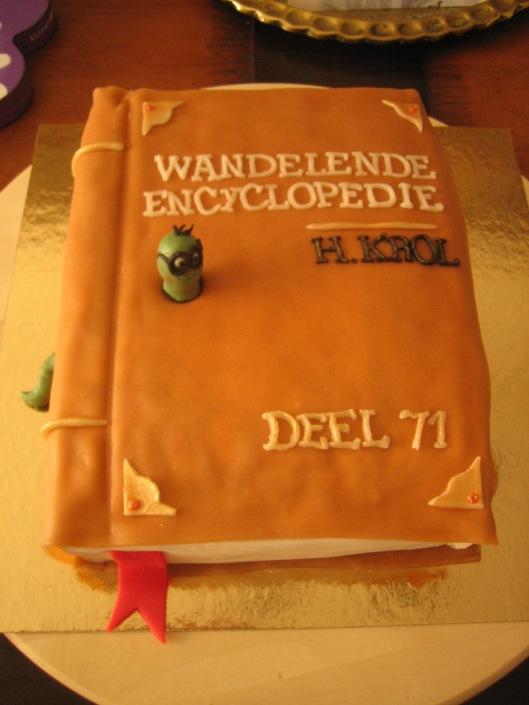 Hans Krol ontving deze boektaart 18 mei 2014 bij gelegenheid van zijn 71ste verjaardag