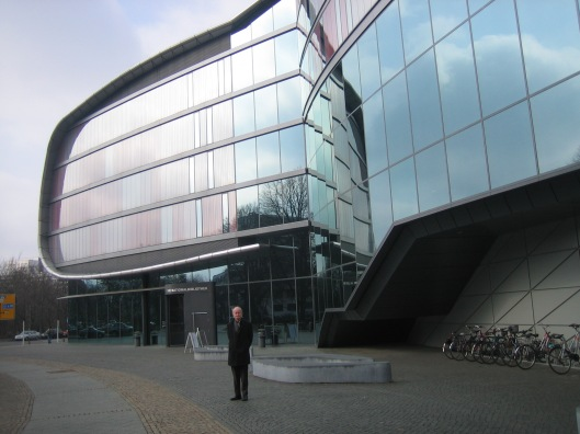 Nieuw(aan)bouw Deutsche Bücherei met schrift en drukmuseum, Leipzig, 2015
