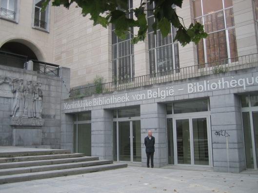 Hans Krol bij zijn tiende bezoek aan de Koninklijke Bibliotheek van België in Brussel, 4 september 2015.