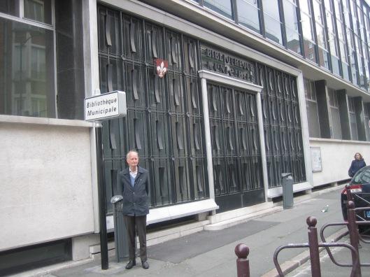 Hans Krol voor de Méditahèque Jean-Lévy in Lille, Rue Delesalle