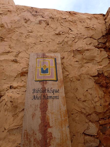 Woestijnbibliotheek in Chinquetti, Mauretania