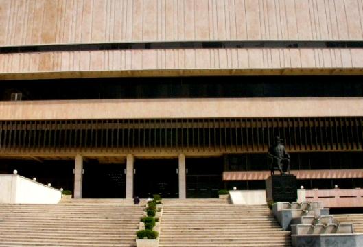 Vooraanzicht van Al-Assad Nationale Bibliotheek in Damascus, Syrië