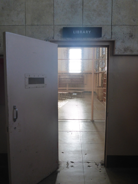 Entrance to former Alcatraz prinson library, San Francisco. Al Capone worked there as a volunteer librarian (photo Angelique Krol)