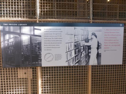 Voormalige Alcatraz gevangenisbibliotheek, San Francisco, USA (foto Angelique Krol)