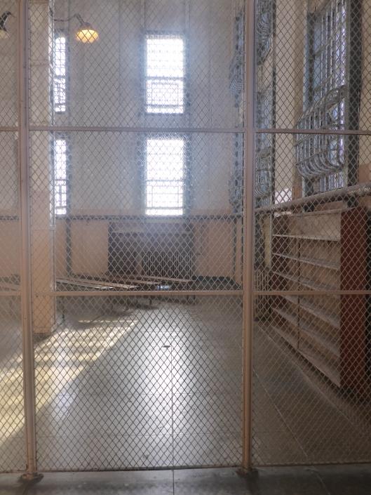 Vm. Alcatraz gevangenisbibliotheek in San Francisco (foto Angelique Krol)