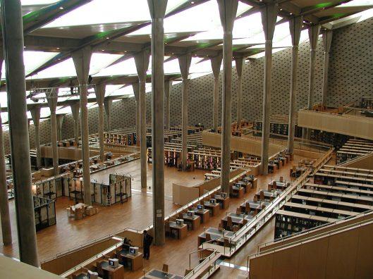 Interieur Biblioteca Alexandrina, Egypte