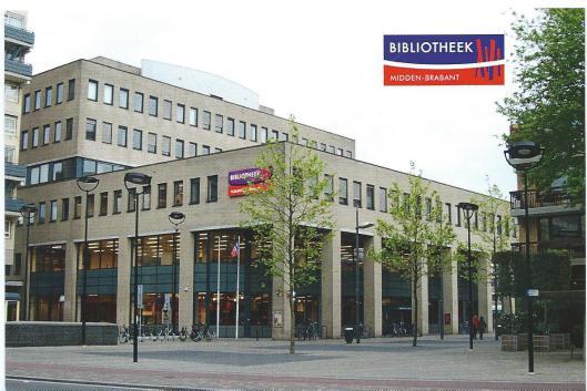 Ansichtkaart van Bibliotheek Midden-Beabant, hoofdvestiging Tilburg