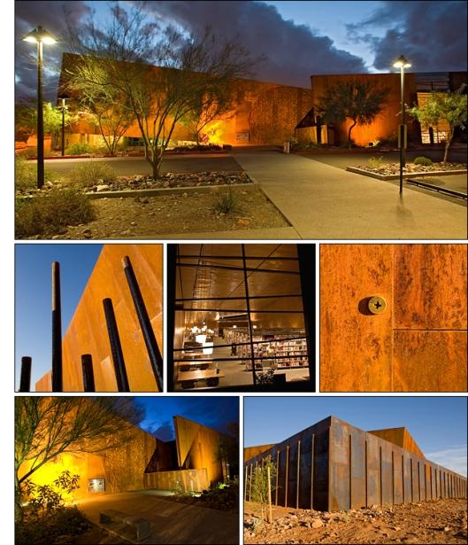 Nieuwe 'Arabian' public library in Scottsdale, Arizona, naar een ontwerp van Richärd + Bauer