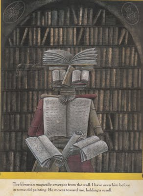 Illustratie van Peter Sis naar Arcimboldo