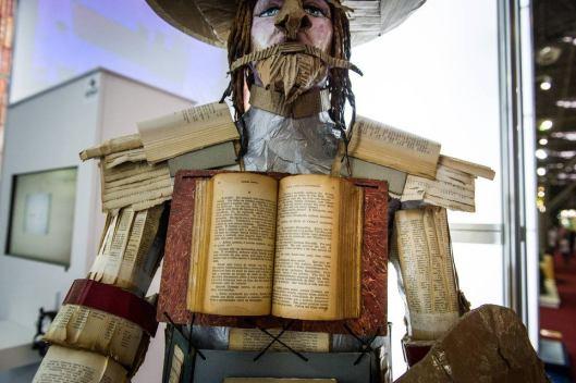 Don Quichotte op de internationale boekenbeurs van Sao Paulo in 2012 (Pierre Fassbind)