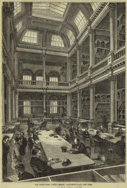 Astor library, voorloper van de New York Public Library