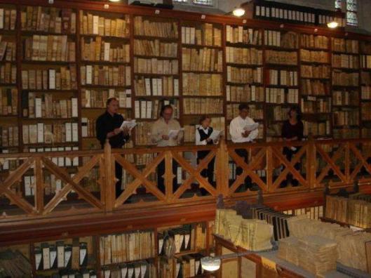 Bibliotheek in het vroegere paleis van de pausen in Avignon (Improbables Libraries, Improbables Bibliothèques)