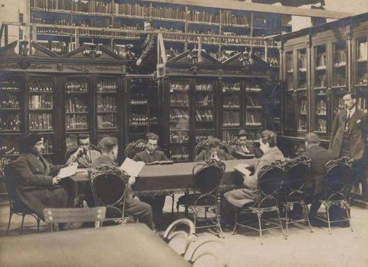 Interieurfoto van Beyazit-bibliotheek Istanbul