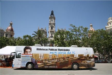 Bibliobus in Valencia, Spanje