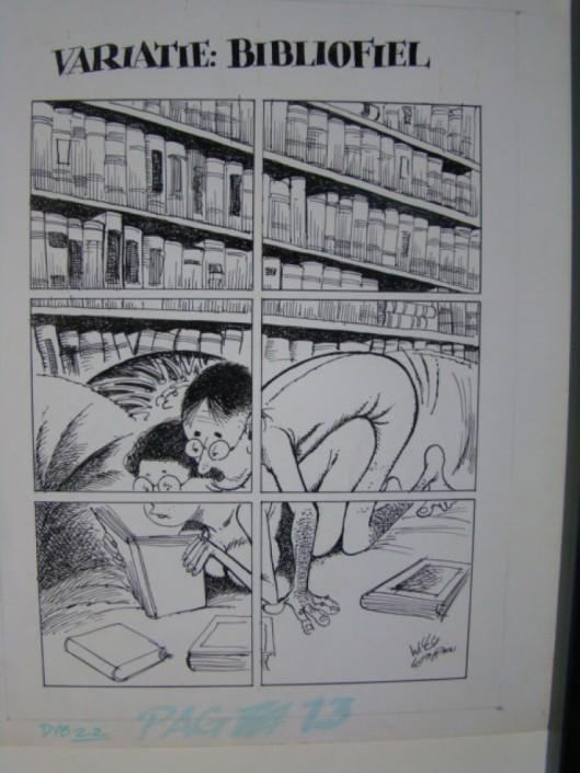 Variatie bibliofilie; tekening door Willy Lohman