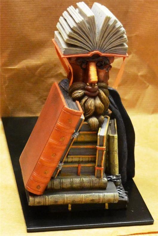 Boekensteunen naar Arcimboldo's bibliothecaris