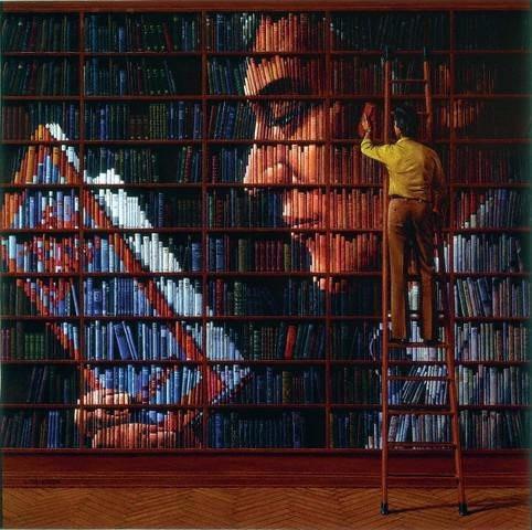 Boekenwand (Mart Kleppe)