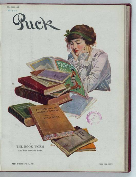 The Book Worm. Puck Publishing Corporation. May 6, 1914