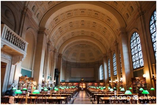 Reading room Boston public library