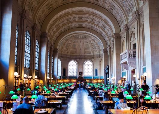 Leeszaal Boston Public Library