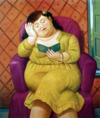Botero: lezende vrouw
