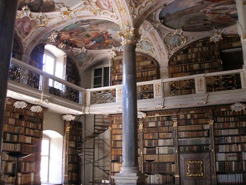 Seminariebibliotheek in Bressanone (Brixen, Zuid-Tirol)