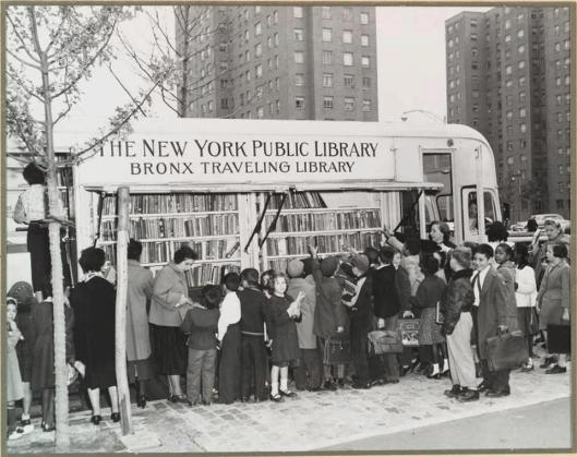Bronx Travelling Library, New York, circa 1930