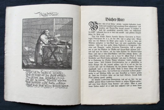 Der Büchernarr. Illustratie uit een uitgave van 1909, oorspronkelijk gepubliceerd in: 'Etwas für alle