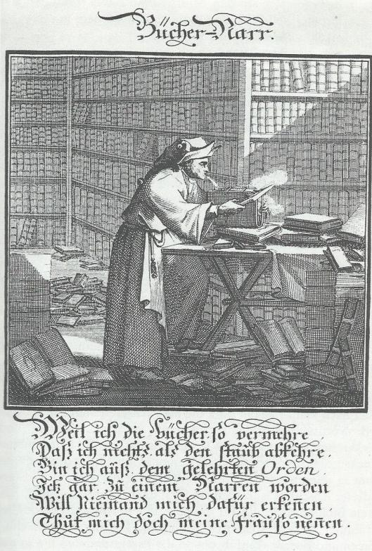 De boekennnar. Gravure van Johann Christoph Weigel, 1710