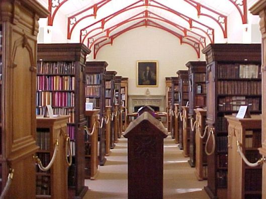 Interieur van Canterbury Cathedral Library, Kent