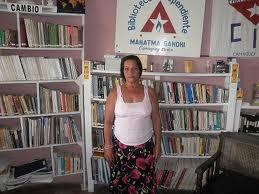 Voorbeeld van Biblioteca Independientes, onafhankelijke bibliotheken, in Cuba