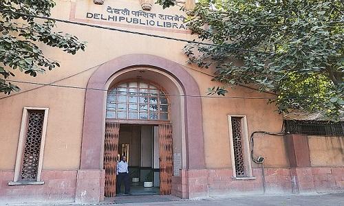 Public Library of Delhi, in 1951-1953 gesticht met hulp van UNESCO
