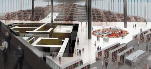 Interior Narional Library of Qatar in Doha.
