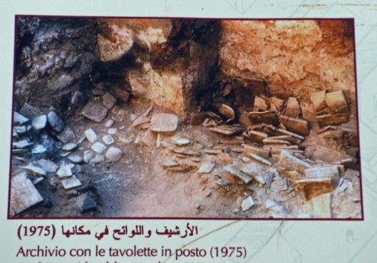 Opgraving van kleitablettenbibliotheek in Ebla, Syrië