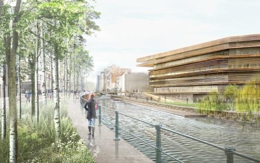 Ontwerp voor nieuwe stadsbibliotheek in Gent