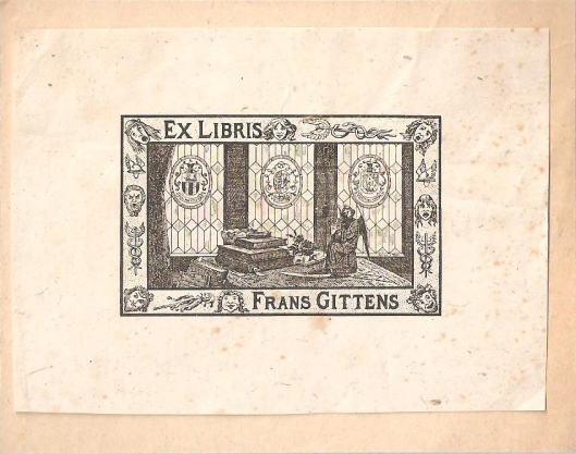Exlibris Frans Gittens