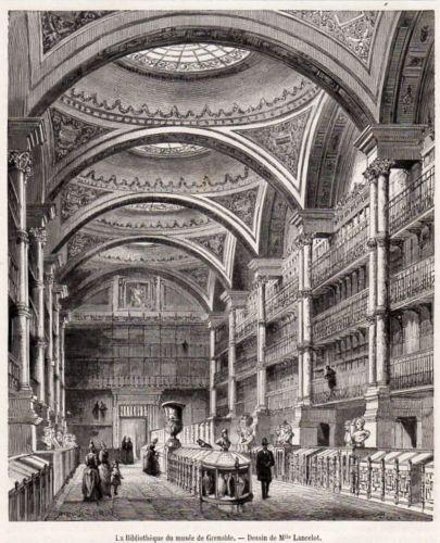 Bibliothèque de Grenoble, gravure 1888