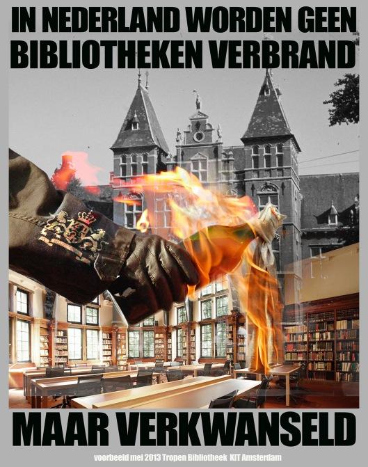 Een vergeefs protest tegen verdwijning van de zeer rijke bibliotheek van bijna 1 miljoen boeken en andere documenten gewijd aan ontwikkelingslanden (De Barmhartige Samaritaan)