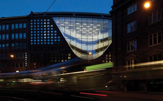 Helsinki University Library, ontworpen door Attinen Oiva Architects