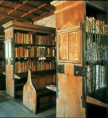 Chained library in Hereford, Herfordshire