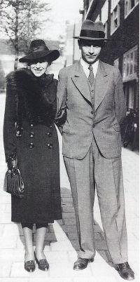 Antiquaar en boekengeleerde dr. Abraham Horodisch (1898-1987)en zijn echtgenote, grafisch ontwerpster, Aloce Garman (1904-1984)