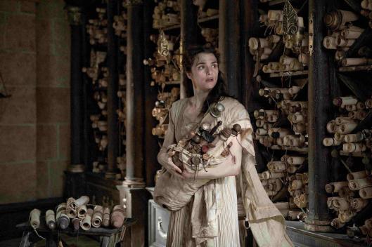Hypatia. Scène uit 'Agora' met Rachel Weisz als Hypatia, hoofdbibliothecaresse, filosoof en wiskundige in Alexandrië