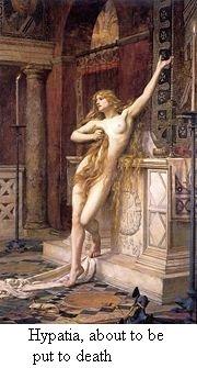 Fantasietekening van Hypatia