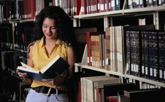 Lezen in de bibliotheek