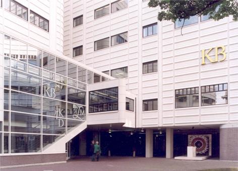 Tegenwoordig gebouw van de Koninklijke Bibliotheek in Den Haag