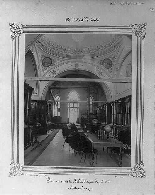 De bibliotheek Beyazit in Istanbul, gesticht onder sultan Abdulhamit II